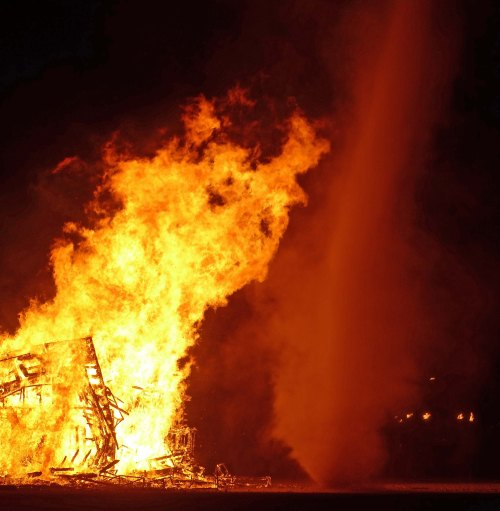 1 Burning the Totem of Confession at Burning Man 2015 c DG