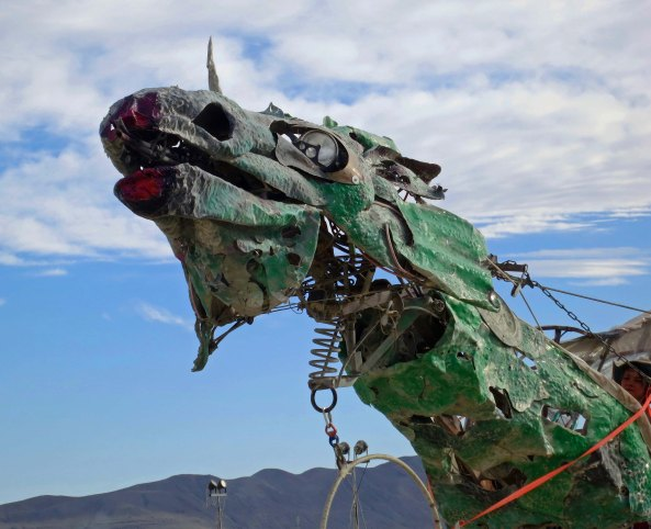 The mutant vehicles of Burning Man, such as this green dragon, are marvelous creatures of the imagination.