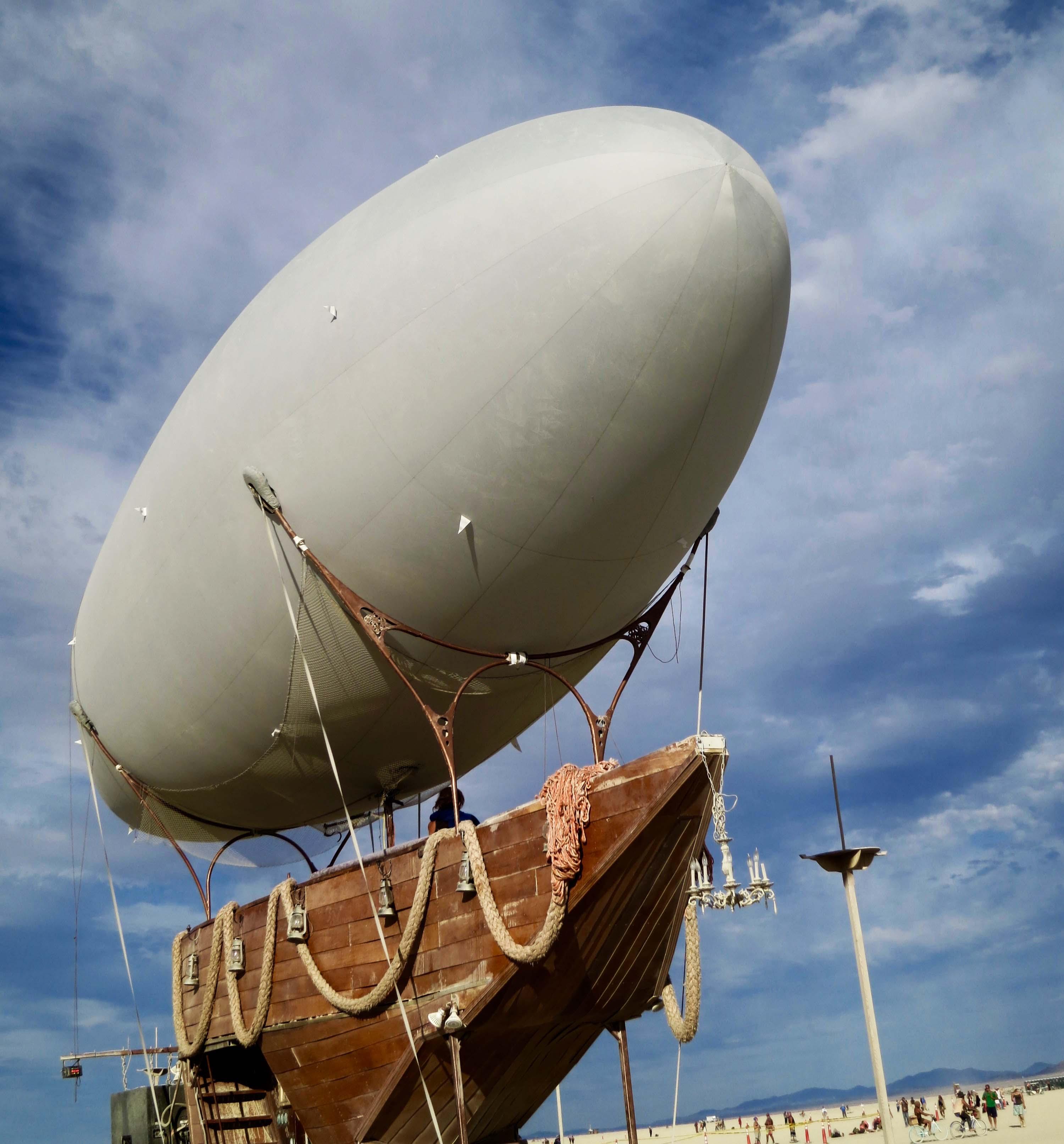 Blimp ship Mutant Vehicle at Burning Man 2015