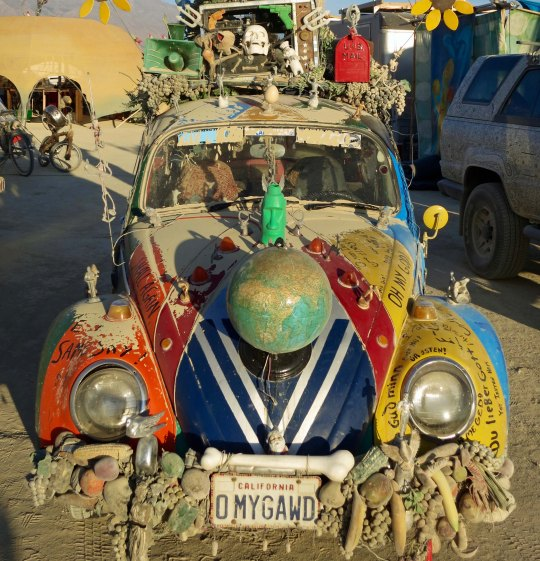 I found this VW at the Art Car Camp.