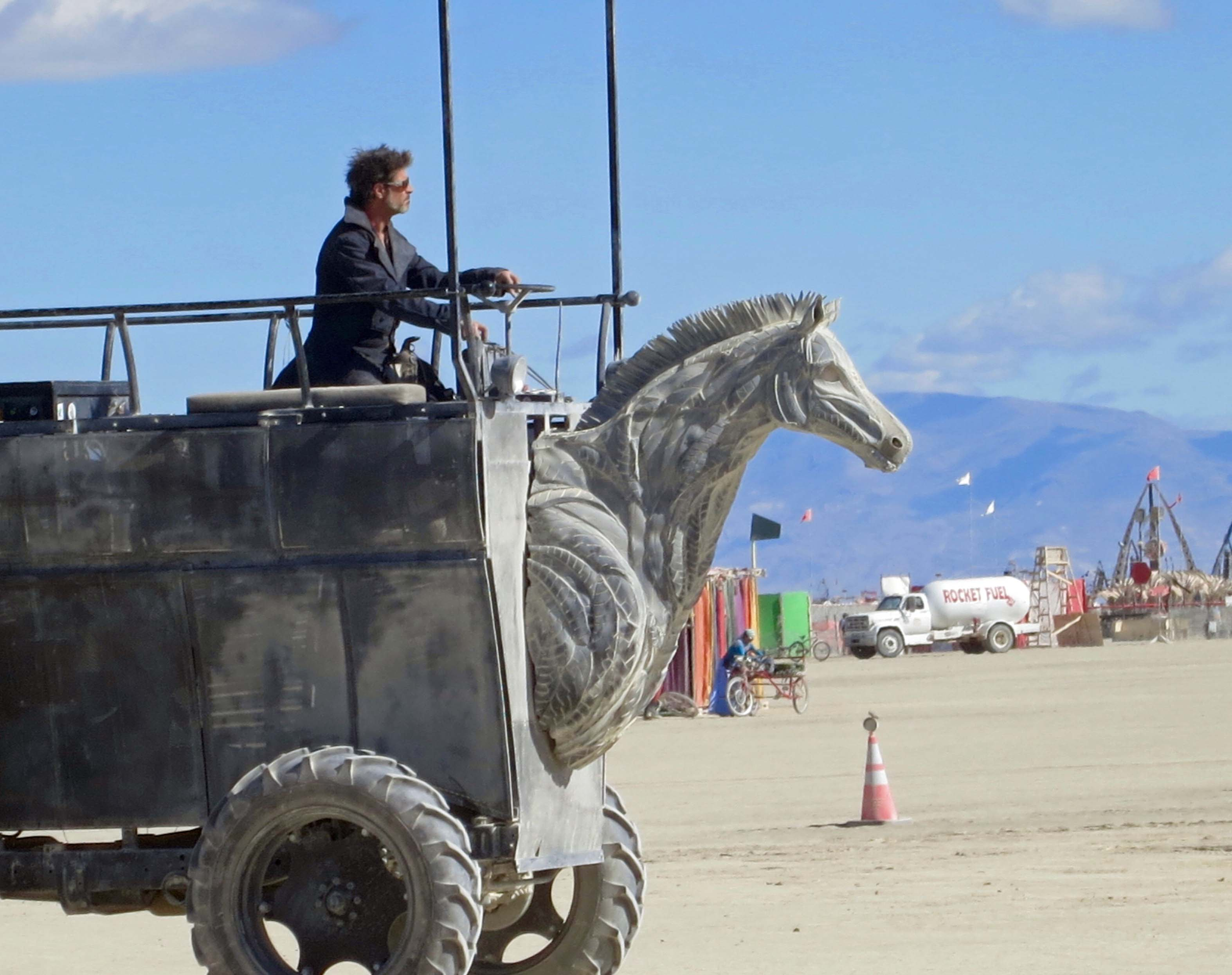 16 Horse head mutant vehicle 2 at Burning man 2015