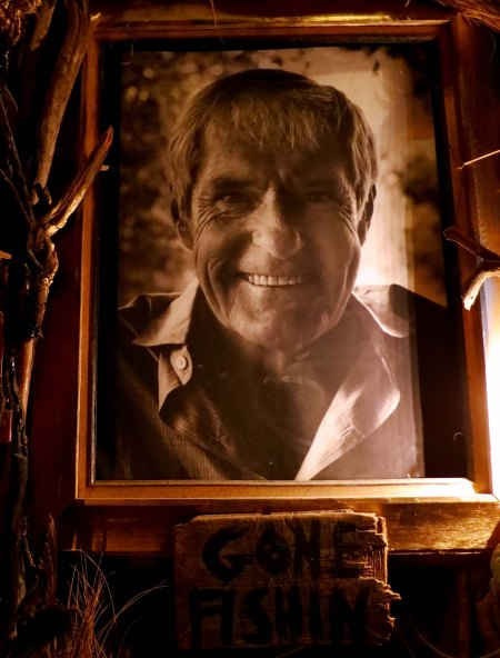 This photo of Timothy Leary was hung in the Totem of Confession.