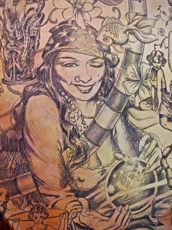 And even more detail featuring a gypsy woman.
