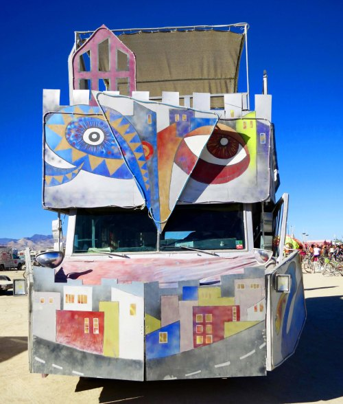 19 Modern Art Mutant Vehicle at Burning Man 2015