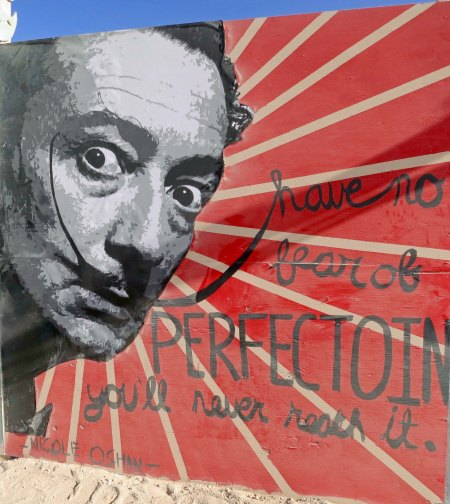 A not so angelic Salvador Dali.