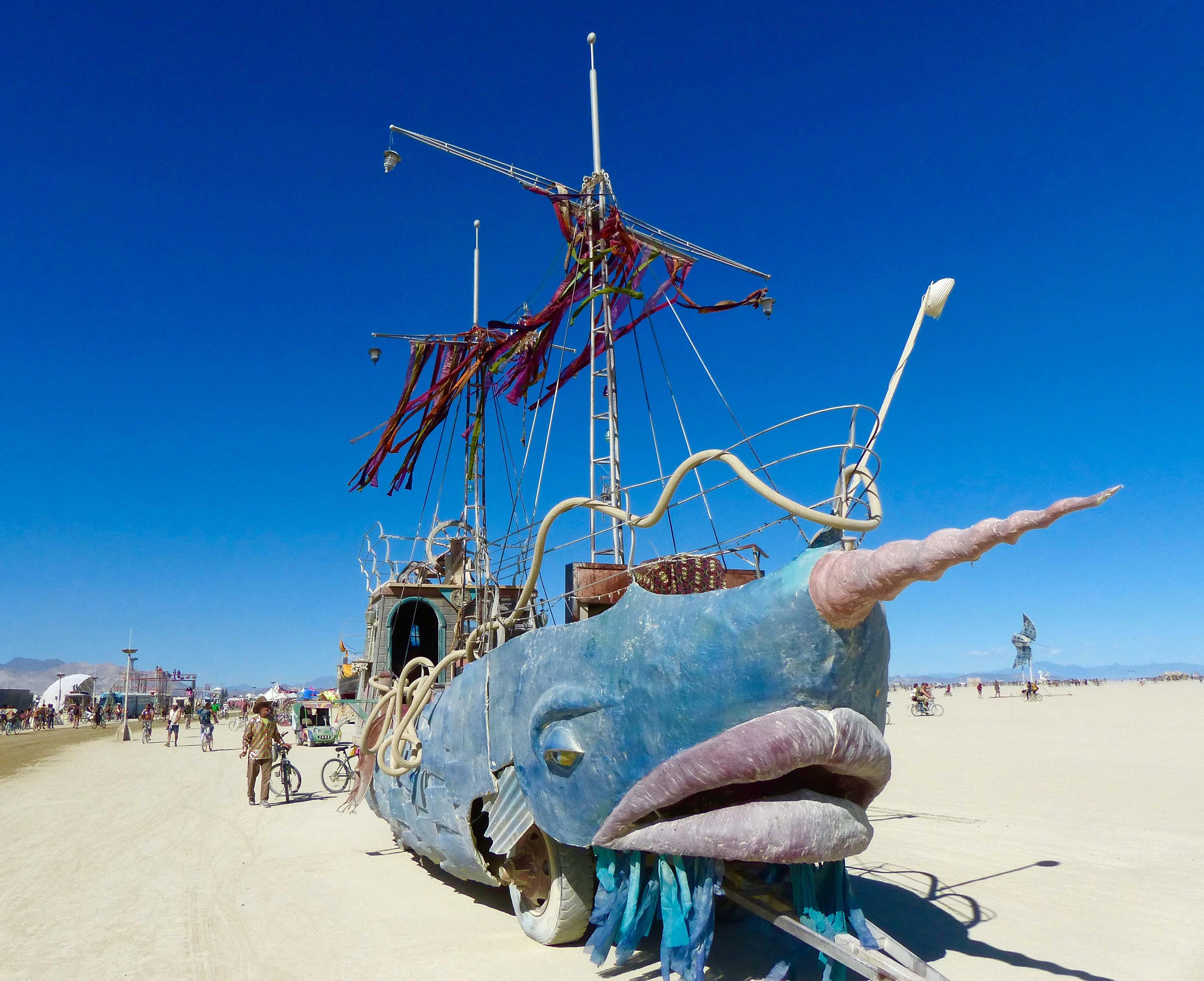 Narwhal mutant Vehicle at Burning Man 2015