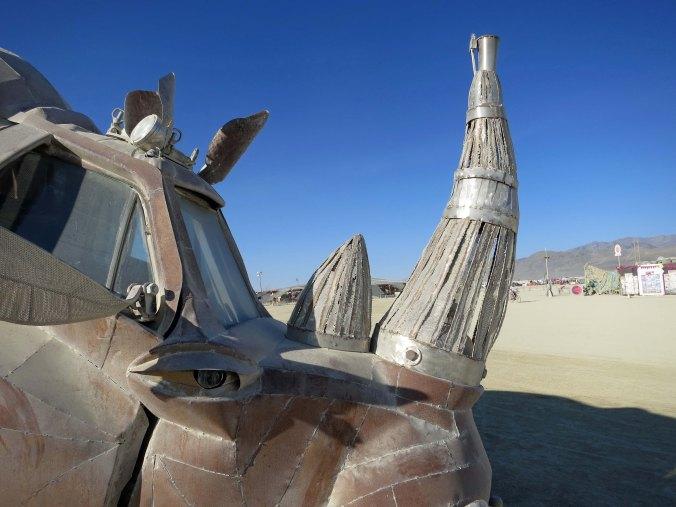 4 Horn of Rhino Art Car at Burning Man 2015