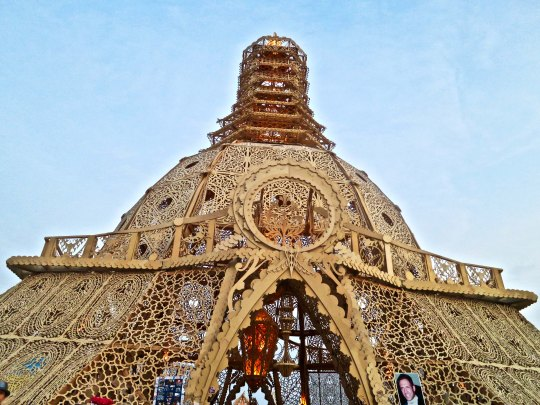 The Temple of Grace at Burning Man 2014.