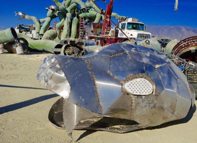 5 Building Medusa at Burning Man 2015