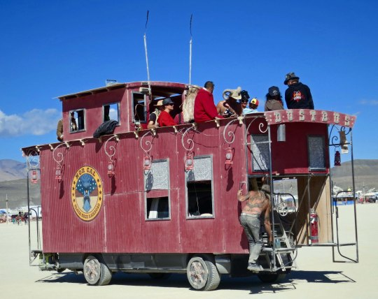 Caboose Mutant Vehicle at Burning Man 2015