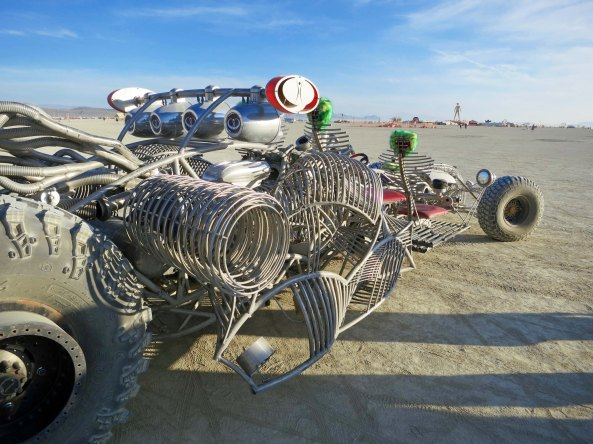 It's companion. The Black Rock Desert has been used for setting vehicle land records. Maybe these guys should compete.