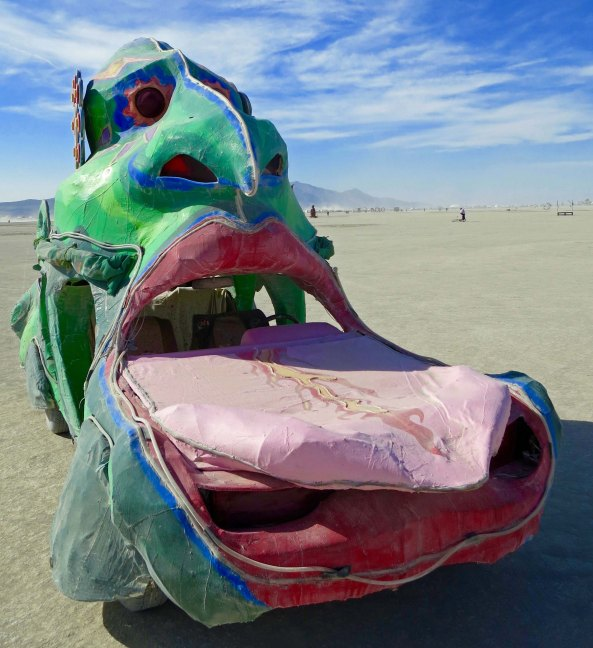 The big nose of this fellow was exceeded in size by his big tongue.