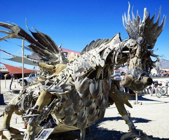 Gabe Zanotto's Dragon at Burning Man 2015