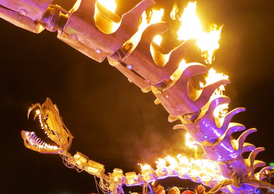 Serpent mother sculpture 8 at Burning Man 2015