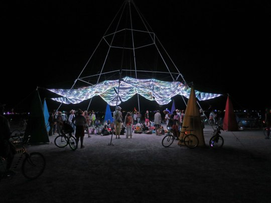 Burning Man Art light show in 2015