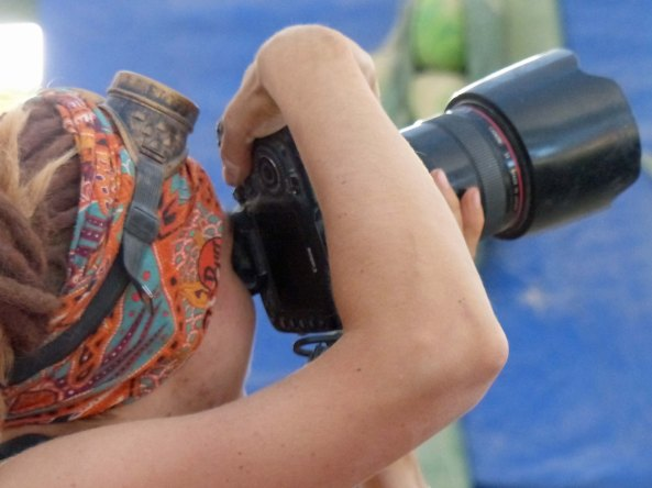 Several million photos will be taken at Burning Man each year and this is how we photographers like to view ourselves with fancy equipment, standing tall...
