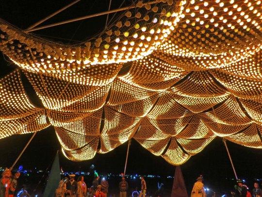 2015 Burning Man art light show