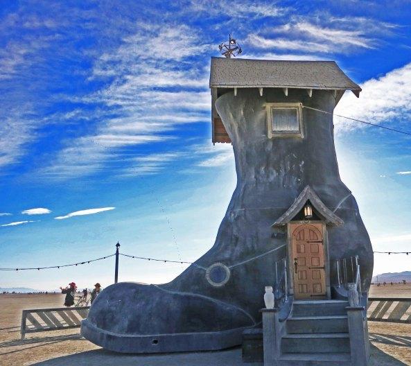 12 Storybook shoe sculpture 7 at Burning Man 2015