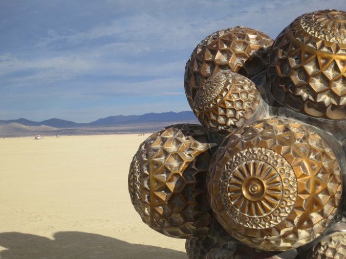 14 Molecule sculpture 3 at Burning Man 2015
