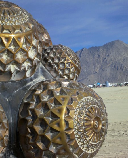 15 Molecule sculpture 5 at Burning Man 2015