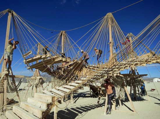 Much of the art at Burning Man is designed to be interactive. This pice may set a new standard.