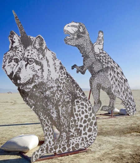 Horned wolf at Burning Man 2015