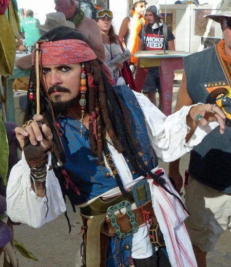 Every party needs a pirate, right. Could it possibly be... (Photo by Don Green.)