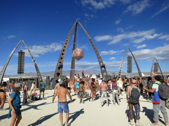 Dancing and music are an integral part of Burning Man. The event attracts some of the top DJs in the world who spin their tunes for free at Burning Man.