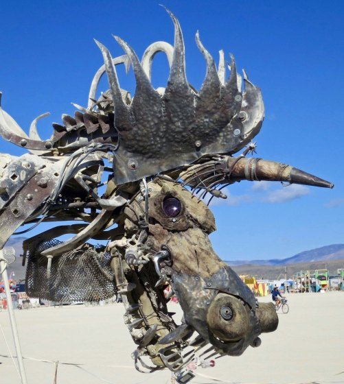 Claude the Dragon at Burning Man 2015