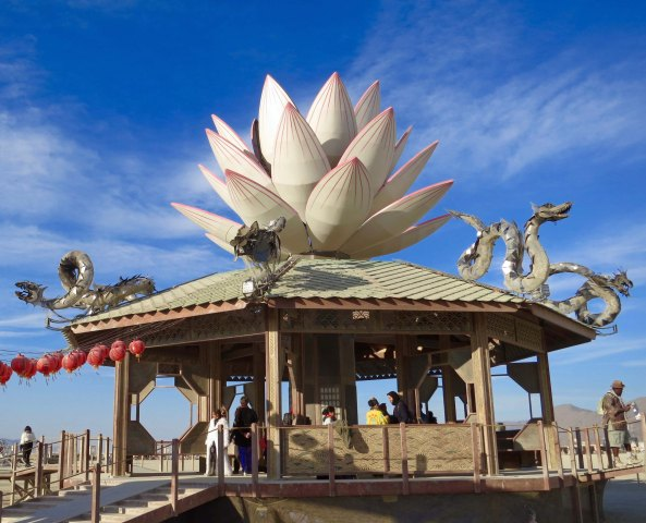 Temple of Mazu at Burning Man 2015
