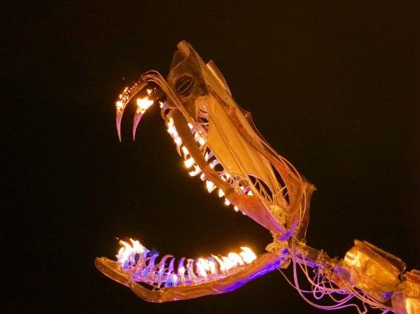 3 Serpent mother sculpture 9 Burning Man 2015