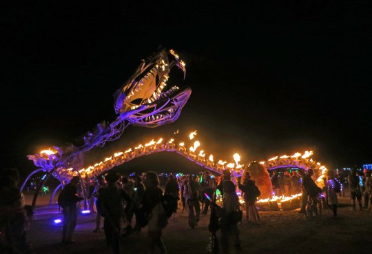 4 Serpent mother sculpture 11 at Burning Man 2015