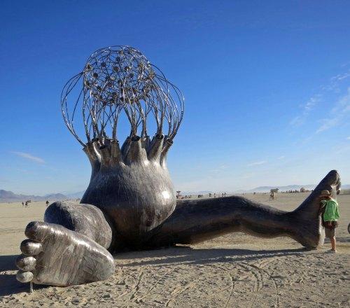 Brainchild sculpture at Burning Man 2015