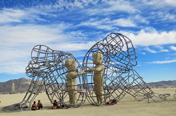 I felt that this sculpture was quite moving. The seated people provide perspective on size.