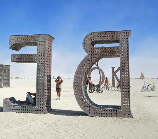 Burning Man art message in 2015 to Be OK