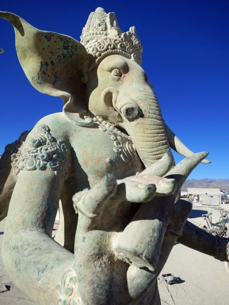 I always stop and pay homage to Ganesha, the Hindu God/elephant that has lost his tusk.