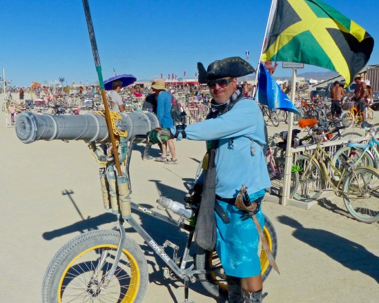 This pirate had outfitted his bike with a canon. (Photo by Don Green.)