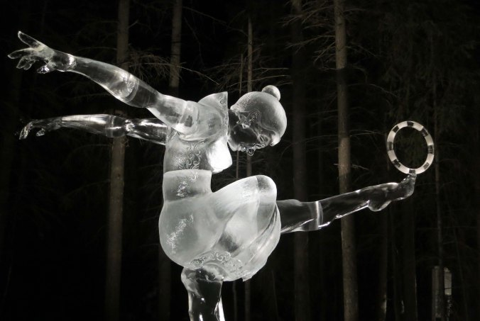 2016 Word Ice Art Championships in Fairbanks.