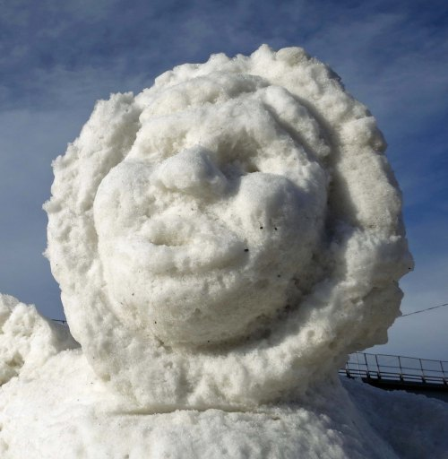 Alaska snow sculpture at Fur Rendezvous 2016