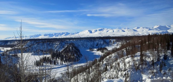 Looking the other way across Hurricane Canyon provided this magnificent view of the canyon and the Alaska Range.