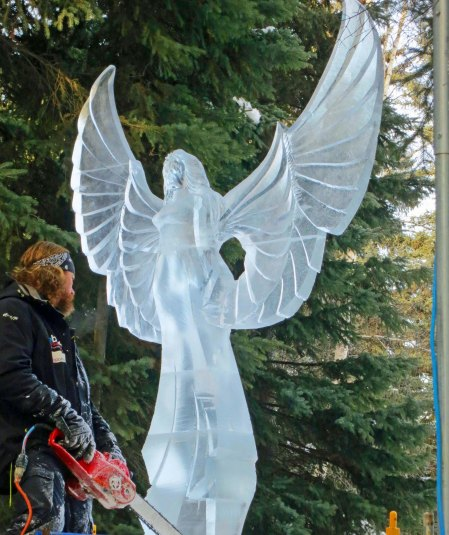 """6 H"" ice carving sculpture at 2016 World Ice Art Championships in Fairbanks, Alaska."