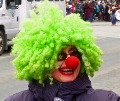 Naturally, a good parade deserves at least one clown. I suspect more that one child had nightmares that night.