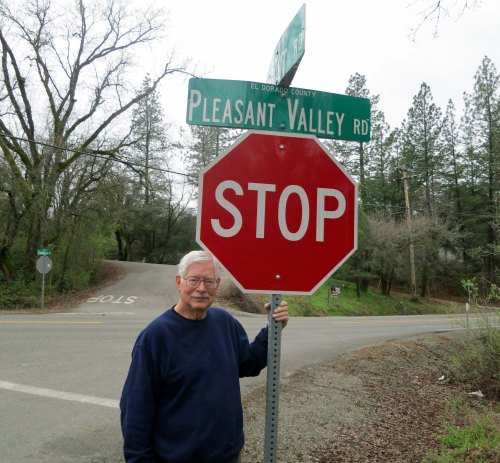 This would have been my first official stop sign on my bike trek. My first grade teacher, Mrs. Young, had lived across the road. She kicked me out for a year when she learned my mother had forged my birth certificate to get me out of the house.