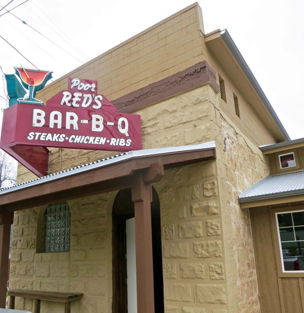 Poor Red is long since dead but his Bar-B-Q restaurant lives on in Eldorado, an historic eatery from the 1940s well-known throughout Northern California.