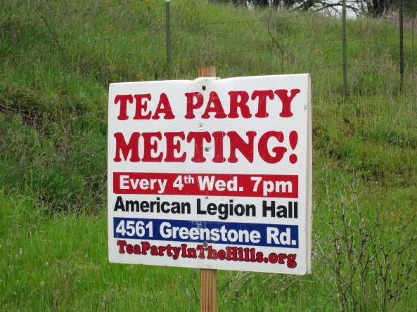 Now it hosted a Tea Party sign. Thinking Tea party led me to think of Alice in Wonderland and I wondered if that was where the name had come from. The Mad Hatter tea party seemed to fit a lot of politics.