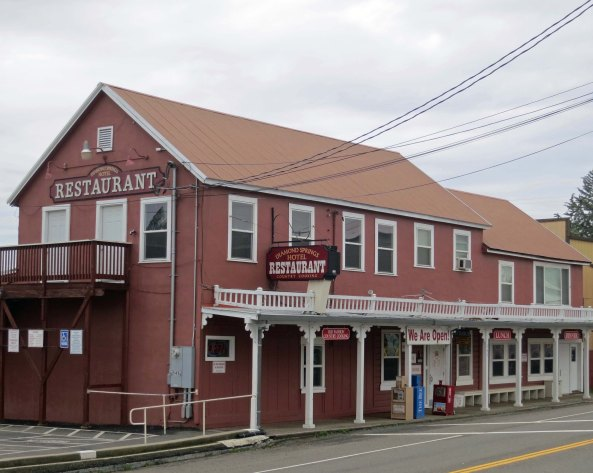 The old Diamond Hotel is just across the road from the barber shop. It still serves good food. Now days, like many old establishments along historic Highway 49, it claims to be haunted. Ghosts are good for business.