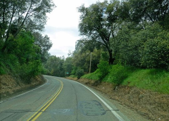 The road out of Sutter Creek. There will be lots of street shots in this series, since this was my world for the six months I bicycled.