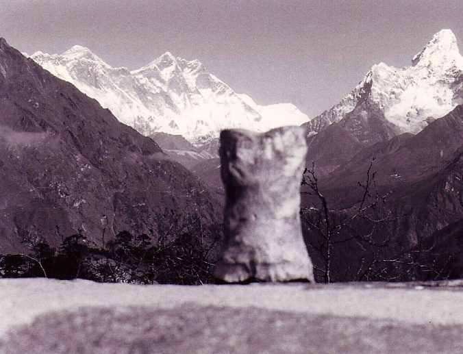 Bone checks out Mt. Everest in Nepal