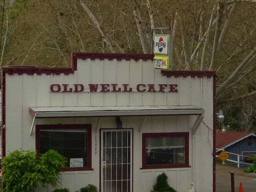 Ten people would constitute a crowd in the Old Well Cafe, but several Hollywood stars of yore had stopped there to eat.