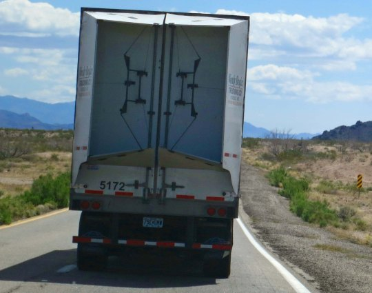Big rigs traveling 60 miles per hour on narrow roads with no shoulders tended to elevate my heart rate, especially when they chose to come up behind me and honk their horns. (Most were quite courteous.)